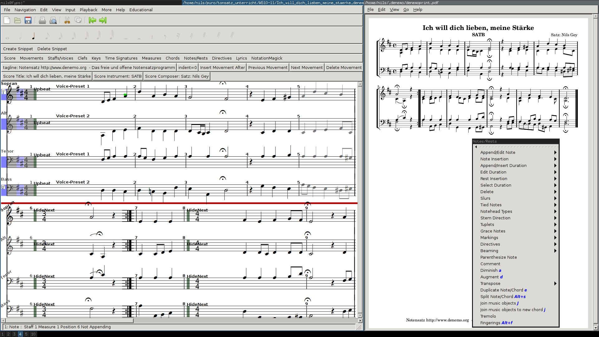 Denemo | Free and Open Music Notation Editor